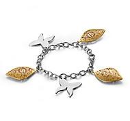Fashion Butterfly Shell Hollowed Titainium Steel Charm Bracelets