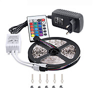 RGB-LED-Streifen 5m 300 3528SMD flexible Lichtband-Parteidekoration LED-Lampen 12 V DC 3a Netzteil IR-Fernbedienung