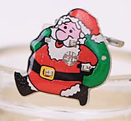 1pç Papai Noel intermitente broche de natal decorações crachá