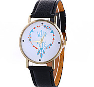Women's Fashion Analog Stripe Ladies' Christmas Display Strap Bohemia Quartz Wrist Watch