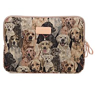 Cute Dog Design 13.3/14/15.6 inch Canvas Laptop Sleeve Bag Ultrabook  Case for Macbook Lenovo Dell