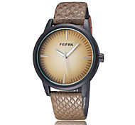 FeiFan Fashion Men's Business Dress Watch Leather Strap Casual Analog Quartz Wrist Watches