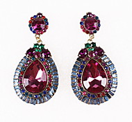 Drop Earrings Simulated Diamond Alloy Fashion Drop Jewelry Purple Jewelry Daily Casual 1pc