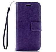 Solid Color Leather Wallet for Samsung Galaxy A3(2016) A5(2016)