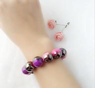 Bracelet Chain Bracelet Resin Circle Fashion Casual Jewelry Gift Pink1pc