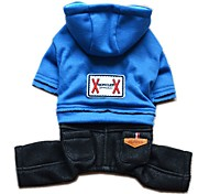 Dog Hoodie / Clothes/Jumpsuit Pink / Dark Blue / Light Blue Dog Clothes Winter / Spring/Fall Jeans Fashion