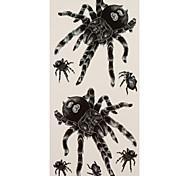 1 Tatuajes Adhesivos Series de Animal spiders flash de tatuaje Los tatuajes temporales