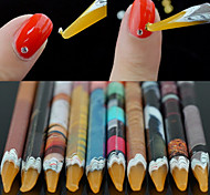 1PCS Candle Dotting Tools Set for Picking Tiny Crystal Beads Nail Art Tool Random color