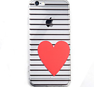 Love HD Pattern Embossed Acrylic Material TPU Phone Case For iPhone 7 7 Plus 6s 6 Plus