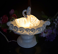 1PC Ceramic  Hollow  Out  Craft  Plugged Into Electricity Swan Fragrance Lamp