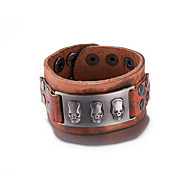 Men's Women's Couple's Bangles Leather Fashion Brown Jewelry 1pc