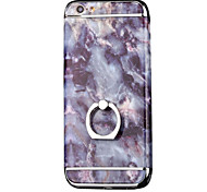 Para Funda iPhone 7 / Funda iPhone 7 Plus con Soporte Funda Cubierta Trasera Funda Mármol Dura Policarbonato AppleiPhone 7 Plus / iPhone
