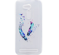 Feather Flower Pattern High Permeability TPU Material Phone Shell For ASUS ZB551KL ZB452KG
