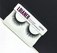 Full Strip Lashes Eyes Thick Handmade mink hair eyelash Black Band 0.10mm 12mm LD204