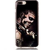 Skull People Pattern HD Painted TPU Material Phone Shell For iPhone 7 7 Plus 6s 6 Plus