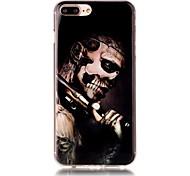 Für iPhone 7 Hülle / iPhone 7 Plus Hülle / iPhone 6 Hülle Muster Hülle Rückseitenabdeckung Hülle Totenkopf Weich TPU AppleiPhone 7 plus /