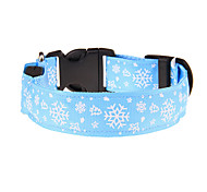 Dog Collar Adjustable/Retractable Flower Red / White / Green / Blue / Yellow / Orange Nylon