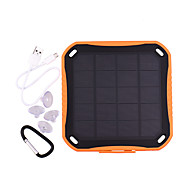 SUNWALK 2.5W 5600mAh Dual USB 2100mAh Waterproof Solar Charger Power Bank External Battery for Cell Phone