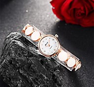 Women's Fashion Watch / Bracelet Watch Quartz Water Resistant/Water Proof Alloy Band Charm / Casual Black / White Brand