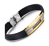 Kalen® New Cool Leather Bracelet Fashion 316 Stainless Steel Charm Bracelet Men's Fashion Accessory