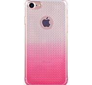 Para Funda iPhone 7 / Funda iPhone 7 Plus Traslúcido Funda Cubierta Trasera Funda Gradiente de Color Suave TPU AppleiPhone 7 Plus /