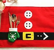 стол 1шт рождественские коврики&перчатки нож вилки сумки Рождество дома поставляет настольные украшения лучший подарок для рождества
