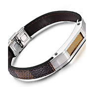 Kalen®Italy Popular Leather Bracelet  New Fashion 316 Stainless Steel Charm Bracelets Men's Fashion Accessory Gifts