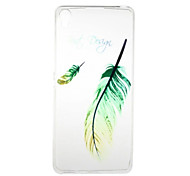 for Sony Xperia XA Xperia E5 Feather Pattern High Permeability TPU Material Phone Case