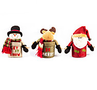 1PC Santa / elk cylindrical box Christmas gift boxes creative ornaments(Random Color)