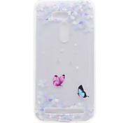 Butterfly Flower Pattern High Permeability TPU Material Phone Shell For ASUS ZB551KL ZB452KG