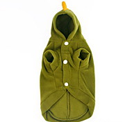 Dog Puppy Pet Hoodie Coat Clothes Clothing Apparel Cute Warm Green XS