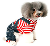 Dog Denim Jacket/Jeans Jacket Red / Blue Dog Clothes Winter / Spring/Fall Zebra Casual/Daily / Holiday