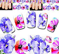 Beauty Cartoon Design Manicure Tools Nail Art Stickers  Free Shipping XF1405