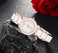 Women's Dress Watch / Fashion Watch Quartz Water Resistant/Water Proof Alloy Band Charm / Casual Black / Gold Brand