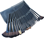 26 Makeup Brushes Set Nylon Hair Professional / Portable Wood Handle Face/Eye/Lip Black