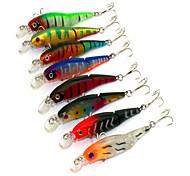 1 pcs leurres de pêche Leurre de vibration Couleurs Aléatoires g/Once mm pouce,Plastique dur Pêche d'appât