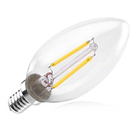 2W E14 Ampoules à Filament LED C35 2 180-200 lm Blanc Chaud Décorative AC 100-240 V