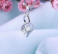 Women's Jewelry S925 Silver Zircon Charm Pendant for Women