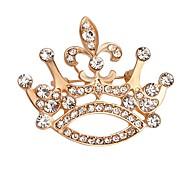 venda quente brilhando cristal broche coroa para as mulheres