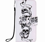 Skull Painting PU Phone Case for apple iTouch 5 6