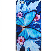 For HUAWEI P9 P8Lite Y5C Y6 Y625 Y635 5X 4X G8 Case Cover Butterfly Pattern TPU Material Phone Shell