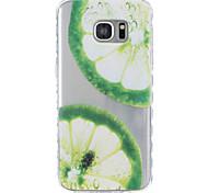 Für samsung galaxy s5 s6 zitronenmuster tpu material sehr transparente telefonkoffer für samsung galaxy s5 s6 s7 s7 rand