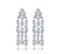 TEEMI AAA Zircon Dangle Drop Earrings Fine Jewelry for Women Wedding