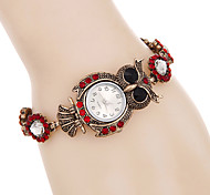 Women Watches Fashion Crystal Owl Bracelet Watch Quartz Digital Watch Relogio Feminino