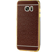 For Samsung Galaxy s7 Plus S7 Edge Plus Business Style TPU Electroplate Dermatoglyph Mobile Phone Soft Shell  s7 Edge s7