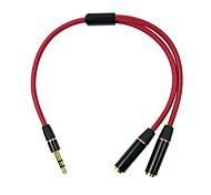 CY® Audio jack de 3.5mm-Audio jack de 3.5mm 0.2m (0.65Ft)