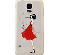 For Samsung Galaxy S7 S6 Case Cover Girl Pattern Painting Super Soft TPU Material