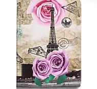 Для Кошелек / Бумажник для карт / со стендом / С узором Кейс для Чехол Кейс для Эйфелева башня Твердый Искусственная кожа SamsungTab E