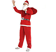 1шт Рождества одежды 5 шт Нетканые одежды для взрослых, чтобы выполнять костюмы Санта-Клауса одежду реквизит