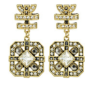 New Fashion Rhinestone Geometric Shape Statement Earrings